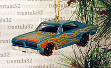 '74 BRAZILIAN DODGE CHARGER 1974 TEAL W FLAMES CHRISTMAS TREE ORNAMENT XMAS