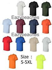 Gildan NEW Mens Size S-XL 2XL 3XL 4XL 5XL Pocket Tees 100% Cotton T-Shirt G230