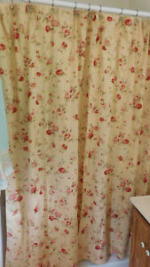 Waverly- Rose Sonata Fabric Shower Curtain-100% Cotton-2 Available