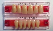 Dental  Accutone False Tooth For Dentures, Full Upper & Lower Anterior Set,65/2N