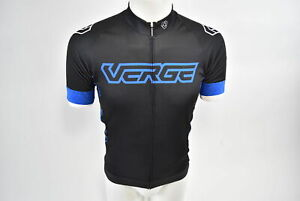 Verge Men's 3XL Core Fitted Short Sleeve Cycling Jersey Black/Blue Brand New