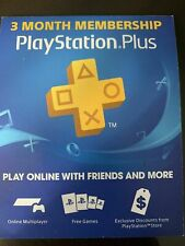 Sony Playstation Plus 3 Month Membership Card Code