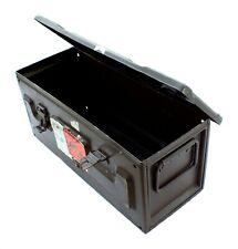 More details for army metal 81mm mortar ammunition tin surplus storage box or tubes multi advert