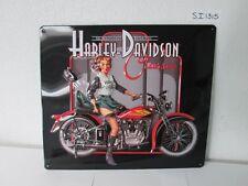 OEM Harley-Davidson Classic Pin Up Babe Metal Tin Sign Embossed New Bar Shop Gar