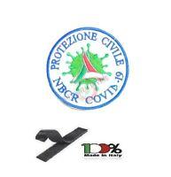 Patch Toppa Ricamata Protezione Civile Volontari e Nazionale Emergenza NBCR C-19