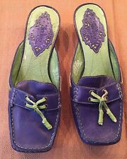 Indigo By Clarks Blue & Green Mules Size 7 New No tag