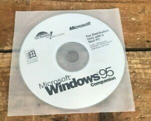 Vtg 1990s Microsoft Windows 95 Companion Disc (1995, CD-ROM) - Disc Only!!!