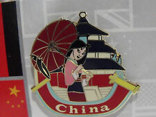 New Authentic Disney China Mulan WDW Epcot World Showcase Booster Trading Pin
