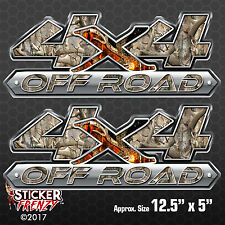 """4x4 """"Camo Woods"""" OFF ROAD 2 Pack Decal #FE424 truck vinyl hunting sticker ford"""