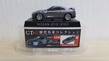 1/72 UCC NISSAN SKYLINE GT-R R35 GREY diecast car pullback model MINT