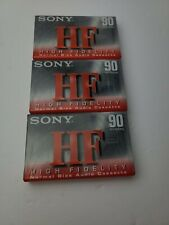 3 NEW Sony HF 90 Minute Blank Audio Cassette Tapes High Fidelity Normal Bias