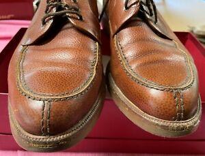 Salvatore Ferragamo Mens Dress Split toe shoes Brown Used Italian 11.5 D 11-1/2D