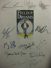 Field of Dreams Signed Film Script Kevin Costner Amy Madigan James Earl Jones rp