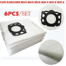 6x KARCHER Fleece Filter Bag Parts for WD 4 WD 5 WD 6 MV4 MV5 MV6 Vacuum Cleaner