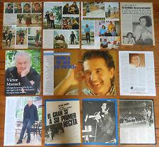 VICTOR MANUEL coleccion de prensa 1970s/00s revista Ana Belen clippings