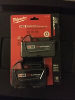 NEW  Milwaukee 18V M18 RedLithium XC 2 Pack Battery 48-11-1822