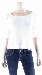 Color Story Boxy Roll-up Sleeve Chest Pocket Shirt Womens size L Cotton DEALS