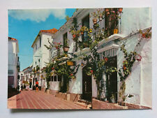 Marbella Spain Vintage colour Postcard 1984 Mercy Street