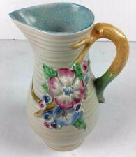 Clarice Cliff My Garden Large Ceramic Jug Newport Pottery England Floral VGC
