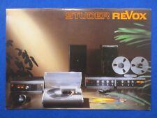 Revox B790 B750 B760 B77 BR BX Accessories Rack Brochure Catalog 28 Pages