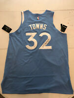 Karl Anthony Towns Signed Authentic Nike City Edition Timberwolves Jersey COA