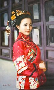 Original Oil Painting On Canvas - People - Classic Beauty