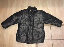 Womens VTG 80s J Gallery Gray Shoulder Padded Retro Duck Down Puffer Jacket Sz L