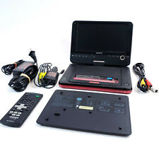 "Sony Red DVP-FX820 Portable DVD Player 8"" Screen w Remote Cables Extra Battery"