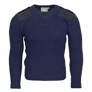 Balmoral Nato 100% Wool V Neck Jumper Workwear Military Doorman Farmer Security