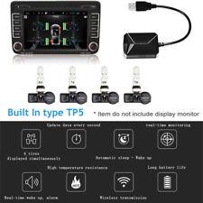 4X TPMS Tire pressure monitoring & temperature sensor Alarm for Android Car DVD