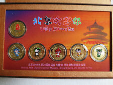 "Beijing 2008,""Welcome to Beijing""Commemorative Medallion Set,6 vergoldete Münzen"