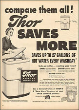 1950 Vintage ad for Thor Spinner Washer`Art Retro Appliance.   (041317)