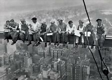 Lunch On a Skyscraper New York City Poster Art Print Wall Art Home Decor Memorab