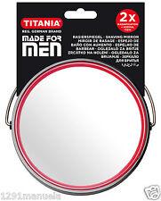 Rasierspiegel Standspiegel Schminkspiegel Spiegel rund zweiseitig for Men