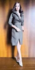 "1/6 Scale Green Long Coat Model For 12"" Phicen Hottoys Female Body Doll"