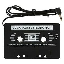 Car in-Dash Tape Audio Cassette MP3 Player Adaptor 3.5mm Aux Male Cable For iPod
