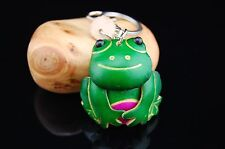 Genuine Leather Animal Key Chain Frog Bag Declaration Charm