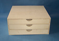 New Wooden 3 drawer mini chest craft scrapbooking  paper storage box