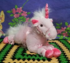 *Korimco Pink plush laying UNICORN*