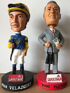 John Velazquez & Todd Pletcher Saratoga Race Course Bobbleheads - MINT - NEW