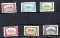 Italy Fiume 1918-19 Parliament mint LHM set SG13-18 WS19550