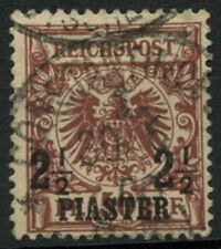 Empire allemand po turc 1889 SG # 15, 2.5 PI sur 50pf lake-brown utilisé #A 91540