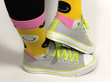 Converse all Star Trainers Low Top Ladies Neon Grey Shoes Chucks 36