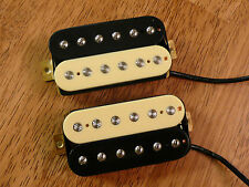 ZEBRA HUMBUCKER PICKUP SET ALNICO 5 MAGNETS FOUR CONDUCTOR WIRED