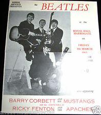 BEATLES Concert Programme Royal Hall Harrogate John Lennon Mustangs Liverpool UK