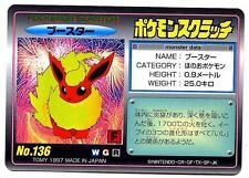Promo Pokemon Japanese Tomy Card from 1997 N°136 Flareon Flame