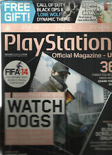 PLAY STATION  OFFICIAL MAGAZINE, UK   OCTOBER, 2013   (  WATCH DOGS )