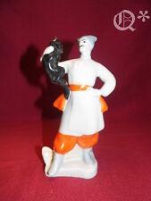 70s Soviet Porcelain Figurine Cossack Factory mark