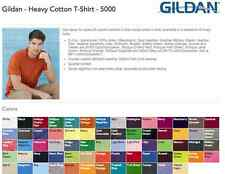 100 Blank Gildan Heavy Cotton T-Shirts Blank Bulk Lot Colors Wholesale 1