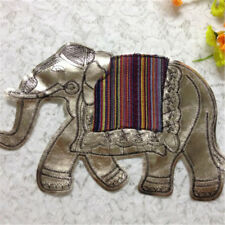 Elephant Sequins Sew On Patches For Clothes DIY Bag Clothing Coat Crafts HC